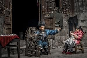 Shangbang Merit Certificate - Youxia Huang (China) <br /> The Old Granny Spinning Wheel